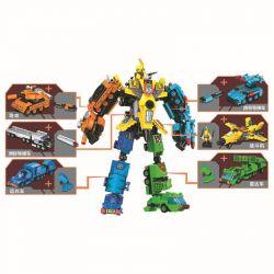 Winner 8024 (NOT Lego Transformers Vehicles Combined Into Super Robot Teken ) Xếp hình Phương Tiện Kết Hợp Thành Siêu Robot Teken gồm 6 hộp nhỏ lắp được 7 mẫu 573 khối