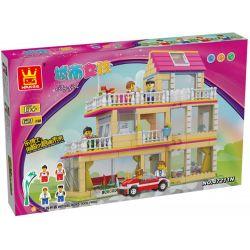 WANGE 47211N Xếp hình kiểu Lego FRIENDS 3-floor House Ngôi nhà ba tầng 621 khối
