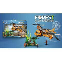 XINGBAO XB-15003 15003 XB15003 Xếp hình kiểu Lego FOREST ADVENTURE Jungle Adventure Jungle Máy Bay Vận Tải 622 khối