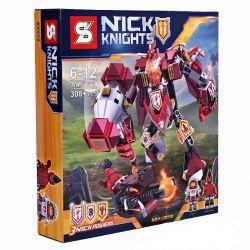 Sheng Yuan 572 SY572 (NOT Lego Nexo Knights Nick Knights ) Xếp hình Robot Chiến Đấu Nick 572 khối