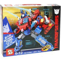 SHENG YUAN SY SY951 Xếp hình kiểu Lego TRANSFORMERS Optimus Prime Deformation Robot Optimus Pilla Directly Deformed Non-disassembly Robot Thủ Lĩnh Phe Autobot Optimus Prime lắp được 2 mẫu 604 khối