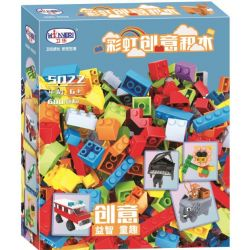 Winner 5022 Xếp hình kiểu Lego CLASSIC Rainbow Creativity Khối Xây Dựng Sáng Tạo 600 khối