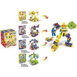 K 17006 Xếp hình kiểu Lego TRANSFORMERS 8 In 4 In 1 Transfomers robot kết hợp biến hình 8 trong 1 598 khối