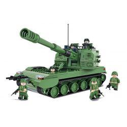 Winner 8011 Xếp hình kiểu Lego TANK BATTLE TankBattle Land War 05 Style 榴弹 Gun Xe Tăng Tự Hành 593 khối