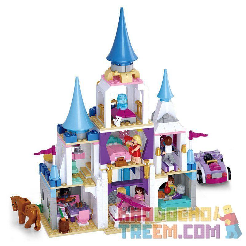SLUBAN M38-B0610 B0610 0610 M38B0610 38-B0610 Xếp hình kiểu Lego GIRL'S DREAM Dolphin Bay Pink Dream Sapphire Castle Lâu đài Của Sapphire 815 khối