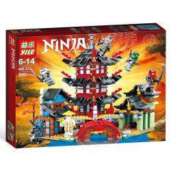 BOZHI 105 LEDUO 76013 YILE 333 Xếp hình kiểu THE LEGO NINJAGO MOVIE Temple Of Airjitzu Flying Ninja Temple Mini Edition Đền Tập Luyện Của Ninja 800 khối