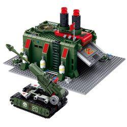Kazi KY81008 81008 Xếp hình kiểu Lego RED ALERT 3 RED ALERT 3 War Factory Red Warning Soviet Battle Vehicle Factory Nhà Máy Sản Xuất Vũ Khí 794 khối
