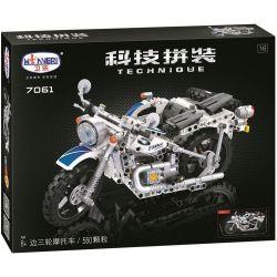 Winner 7061 Xếp hình kiểu Lego TECHNIC The Three-wheeled Motorcycle Three-wheeled Motorcycle 1 8 Xe Máy 3 Bánh 550 khối