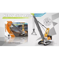 XINGBAO XB-03037 03037 XB03037 Xếp hình kiểu Lego Heavy Duty Truck Crawler Crane Heavy Duty Truck Cần Cẩu Bánh Xích 776 khối