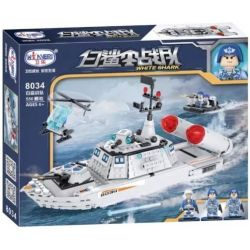 Winner 8034 (NOT Lego SWAT Special Force White Shark ) Xếp hình Biệt Đội Cá Mập Trắng 550 khối