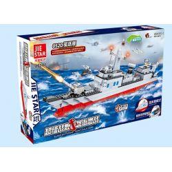JIE STAR 20101 Xếp hình kiểu Lego MILITARY ARMY Type052D Destroyer Tàu khu trục 052D 549 khối