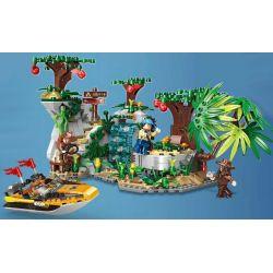 Xingbao XB-15004 (NOT Lego Forest Adventure Forest Adventure ) Xếp hình Đột Nhập Đảo Hoang 770 khối