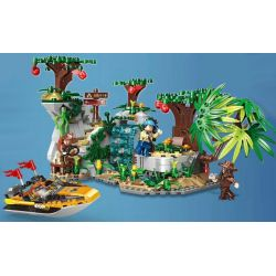 XINGBAO XB-15004 15004 XB15004 Xếp hình kiểu Lego FOREST ADVENTURE Jungle Adventure Explore Stone Monument Đột Nhập đảo Hoang 770 khối