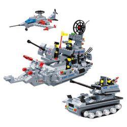 Wange 40342 (NOT Lego Military Army Aeroamphibious League ) Xếp hình Liên Minh Đổ Bộ 770 khối