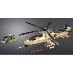 Xingbao XB-06025 (NOT Lego Across The Battlefield Across The Battlefield:wz10 ) Xếp hình Trực Thăng Chiến Đấu 749 khối