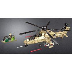 XINGBAO XB-06025 06025 XB06025 Xếp hình kiểu Lego ACROSS THE BATTLEFIELD Across The Battlefield WZ10 WZ10 Helicopter Trực Thăng Chiến đấu 749 khối