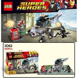 Jlb 3D62 (NOT Lego Super Heroes Spider Man, Batman, Iron Man Unite ) Xếp hình Liên Minh Giữa Người Nhện, Người Sắt Và Người Dơi 543 khối