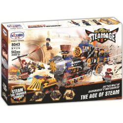 Winner 8043 Xếp hình kiểu Lego THE AGE OF STEAM SteamAge The Steam Train Steampunk Era Tấn Công Tàu Hơi Nước 543 khối