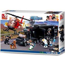 SLUBAN M38-B0659 B0659 0659 M38B0659 38-B0659 Xếp hình kiểu Lego Police Command Vehicle All Police Dispatched Special Command Vehicle Những Phương Tiện Chuyên Dụng Của Cảnh Sát 540 khối