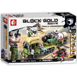 SEMBO 11713 Xếp hình kiểu Lego BLACK GOLD Black Plan Crude Oil Transport Heavy Truck Cuộc Chiến Trên Xe Chở Dầu 539 khối