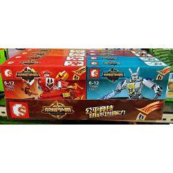 Sembo 11862 11863 11864 11865 (NOT Lego King of Glory Hegemony Glory Hegemony ) Xếp hình 4 Chiến Binh Vinh Quang gồm 4 hộp nhỏ 526 khối