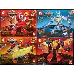 SEMBO 11862 11863 11864 11865 Xếp hình kiểu Lego KING OF GLORY HEGEMONY Glory For Hegemony Mecha 4 Types 4 Chiến Binh Vinh Quang gồm 4 hộp nhỏ 526 khối
