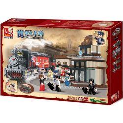 Sluban M38-B0236 (NOT Lego City ) Xếp hình Nhà Ga Century 526 khối