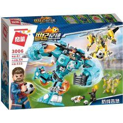 Enlighten 3006 (NOT Lego Transformers Super Soccer ) Xếp hình Cuộc Đại Chiến Trên Sân Cỏ 525 khối