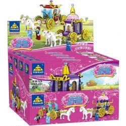 Kazi Gao Bo Le Gbl Bozhi 98707 (NOT Lego Friends Cinderella's Dream World ) Xếp hình Những Chiếc Xe Ngựa Của Cinderella gồm 4 hộp nhỏ lắp được 4 mẫu 523 khối
