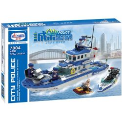 Winner 7004 Xếp hình kiểu Lego City Police Police Boat Thuyền Cảnh Sát Biển 521 khối