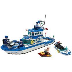 Winner 7004 Xếp hình kiểu Lego City Police Urban Police Waterkeeper Thuyền Cảnh Sát Biển 521 khối