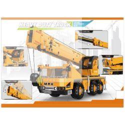 XINGBAO XB-03036 03036 XB03036 Xếp hình kiểu Lego Heavy Duty Truck Crane Machinery Heavy Duty Truck Máy Cẩu Hạng Nặng 657 khối