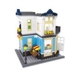 HSANHE 6703 Xếp hình kiểu Lego MODULAR BUILDINGS Fruit Store Cửa hàng hoa quả 458 khối