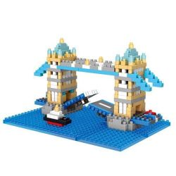 Wise Hawk 2328 Nanoblock Architecture London Tower Bridge Xếp hình Cầu Tháp London 462 khối