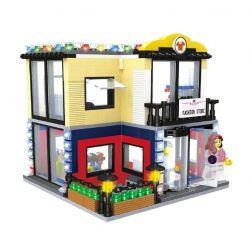 Hsanhe 6701 (NOT Lego Mini Street View Fashion Store ) Xếp hình Cửa Hàng Thời Trang 462 khối