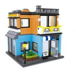 Hsanhe 6700 (NOT Lego Mini Street View Pet Shop ) Xếp hình Cửa Hàng Thú Cưng 466 khối