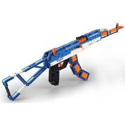 Cada C81001 C81001W Lego Technic Block Gun Ak-47 Assault Rifle Xếp hình Súng Trường Tự Động Kalashnikov gồm 2 hộp nhỏ 498 khối