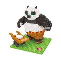 Wise Hawk 2387 Nanoblock Kung Fu Panda Master Po Ping Xếp hình Gấu Trúc Po 423 khối