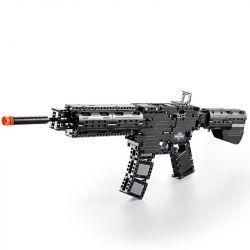 Cada C81005 C81005W Lego Technic Block Gun M4A1 Xếp hình Súng Trường Tấn Công gồm 2 hộp nhỏ 621 khối