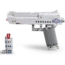 Cada C81007 C81007W Lego Technic Block Gun Desert Eagle Pistol Xếp hình Súng Lục gồm 2 hộp nhỏ 307 khối