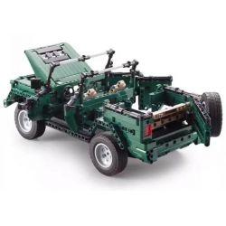 DOUBLEE CADA C51015 51015 Xếp hình kiểu Lego TECHNIC 北京 BJ80 The 90th Anniversary Of The Jianjun, The Military, The Military, Beijing BJ80 Xe Mui Trần Xanh 561 khối điều khiển từ xa