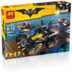 Lele 34114 (NOT Lego Batman Movie Batman's Vehicle ) Xếp hình Cuộc Đua Của Người Dơi Và Gã Hề Joker 513 khối