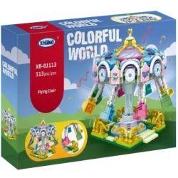 XINGBAO XB-01113 01113 XB01113 Xếp hình kiểu Lego COLORFUL WORLD Colorful World FlyingChair Variety Rotating Flying Chair đu Quay Sắc Màu 513 khối