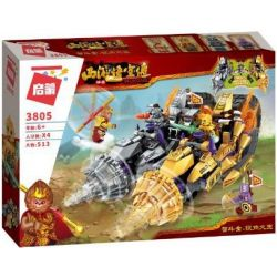 Enlighten 3805 Qman 3805 Xếp hình kiểu Lego MONKIE KID WUKONG Journey To The West Zhigan Gold Silver Corner Ngộ Không Chiến đấu Với Zhidou Golden Và Silver Corner King 513 khối