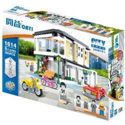 Cayi 1614 (NOT Lego City Financial Banking Center ) Xếp hình Trung Tâm Tài Chính Ngân Hàng 509 khối