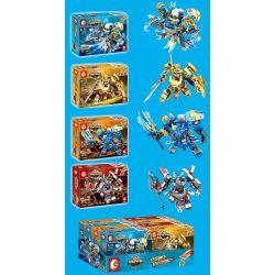 SEMBO 11858 11859 11860 11861 Xếp hình kiểu Lego KING OF GLORY HEGEMONY 4 Models Of Machine Mecha 4 Loại gồm 4 hộp nhỏ 556 khối