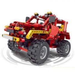 QIZHILE 6041 Xếp hình kiểu Lego STORM RACING Red Off-road Vehicle Xe địa Hình 436 khối