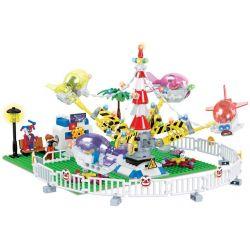 Winner 7035 Xếp hình kiểu Lego City Modern Paradise Rotating Aircraft Đu Quay Thiên Đường 508 khối