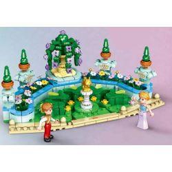 XINGBAO XB-12022 12022 XB12022 Xếp hình kiểu Lego CASTAL PRINCESS Castal Peincess Royal Garden Princess Castle Khu Vườn Hoàng Gia 551 khối