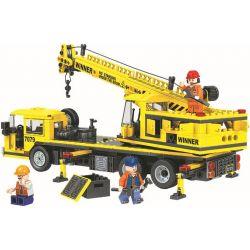 Winner 7079 Xếp hình kiểu Lego CITY Little Engineers Small Engineer Crane Cần Cẩu Vàng 507 khối